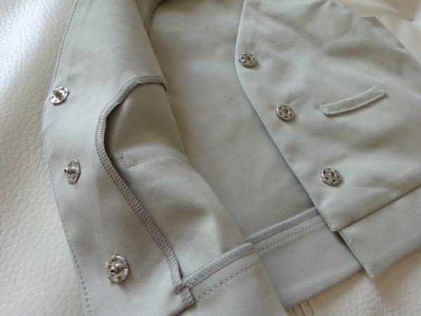 Bouton smoké perle détail 3
