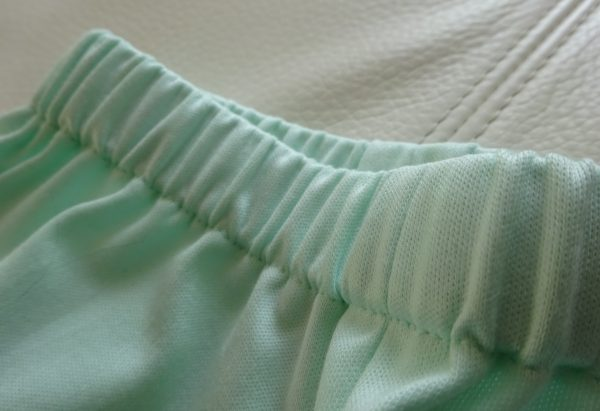 Pantacourt vert d'eau détail 2